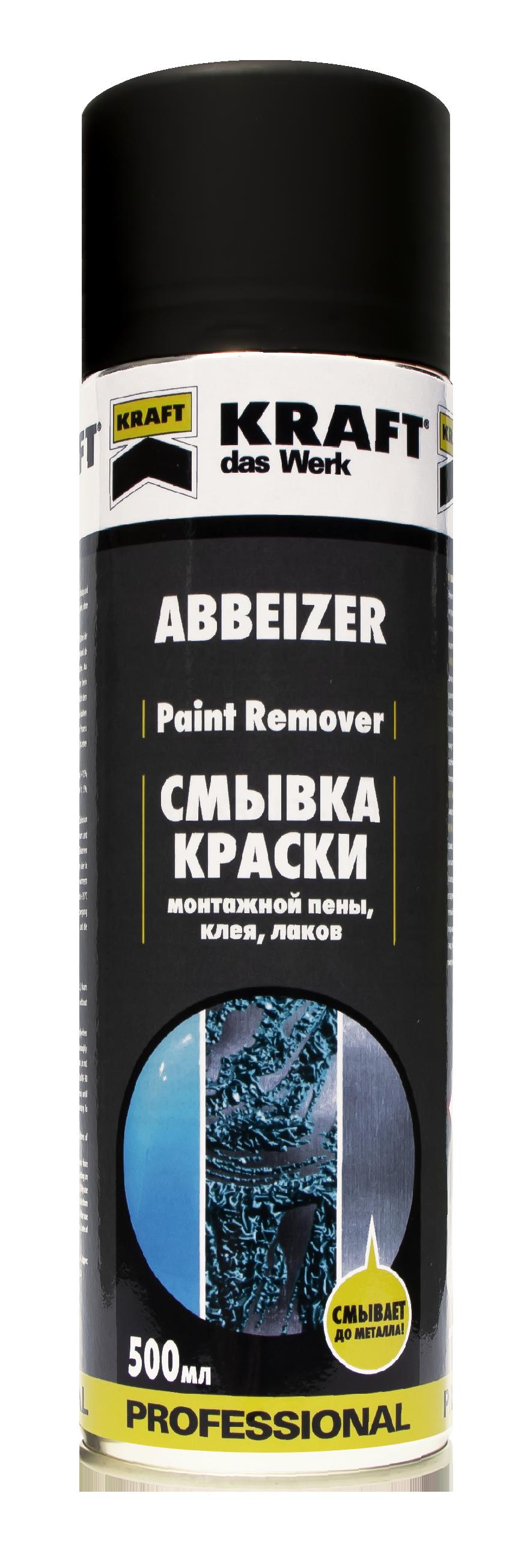 Смывка краски (средство для удаления лакокрасочных покрытий), ТМ 'KRAFT' 500мл KF006