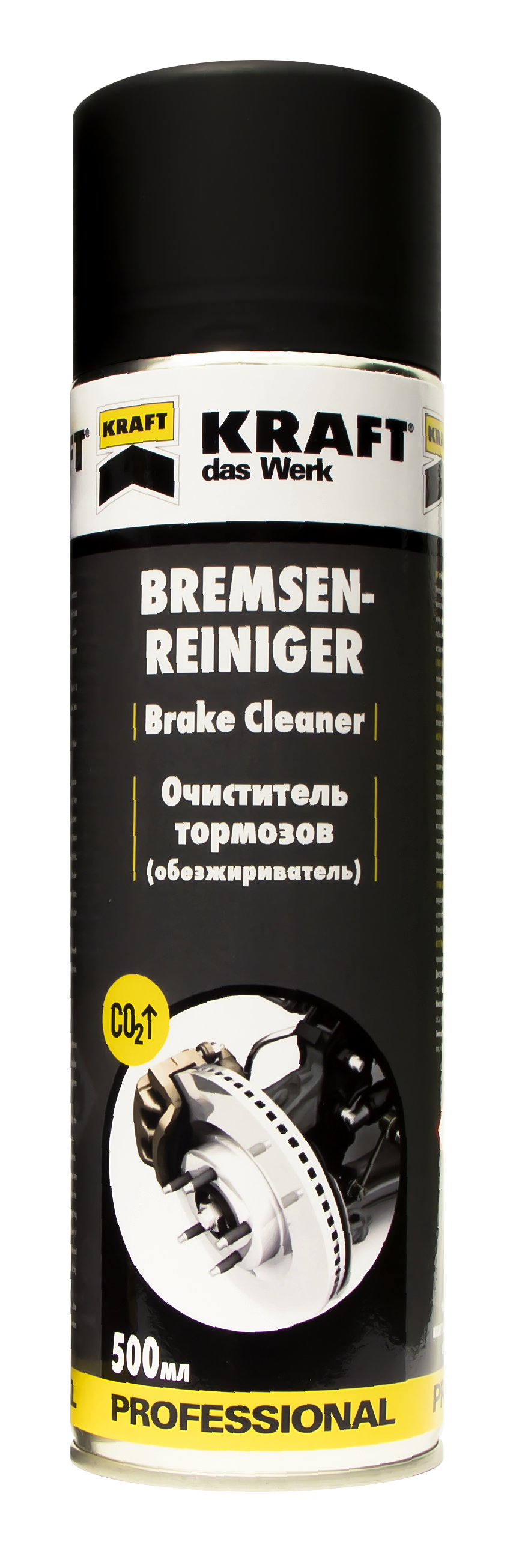 Очиститель тормозов (обезжириватель), ТМ 'KRAFT' 500мл KF005