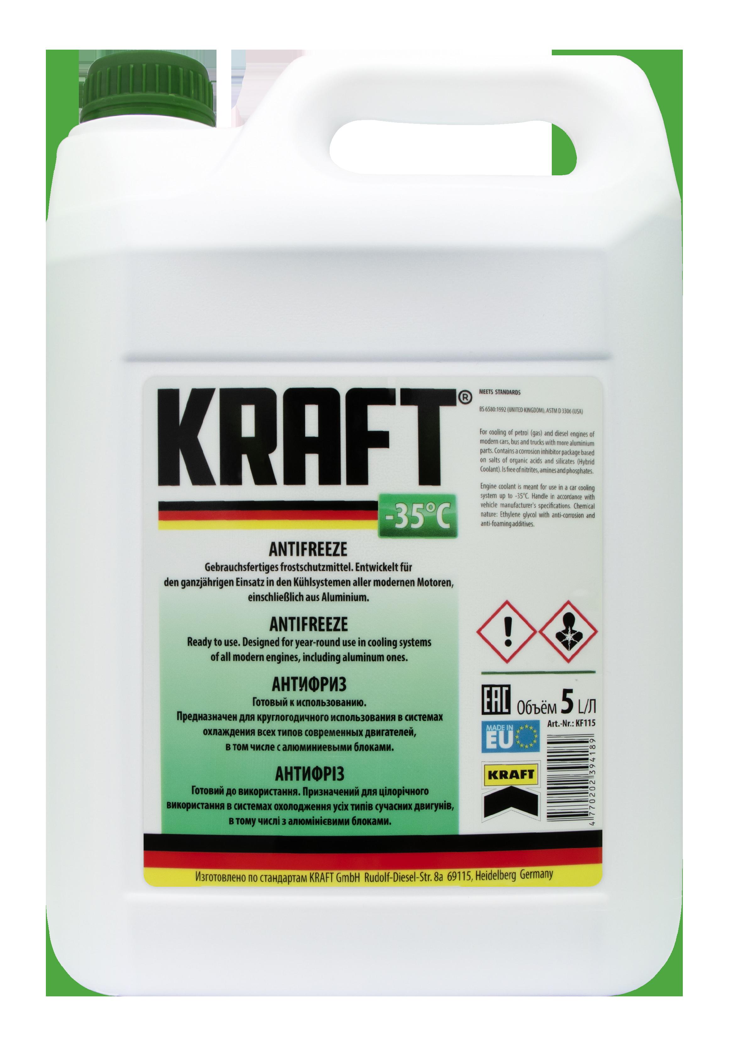 Антифриз -35°C ТМ 'KRAFT' 5л KF115