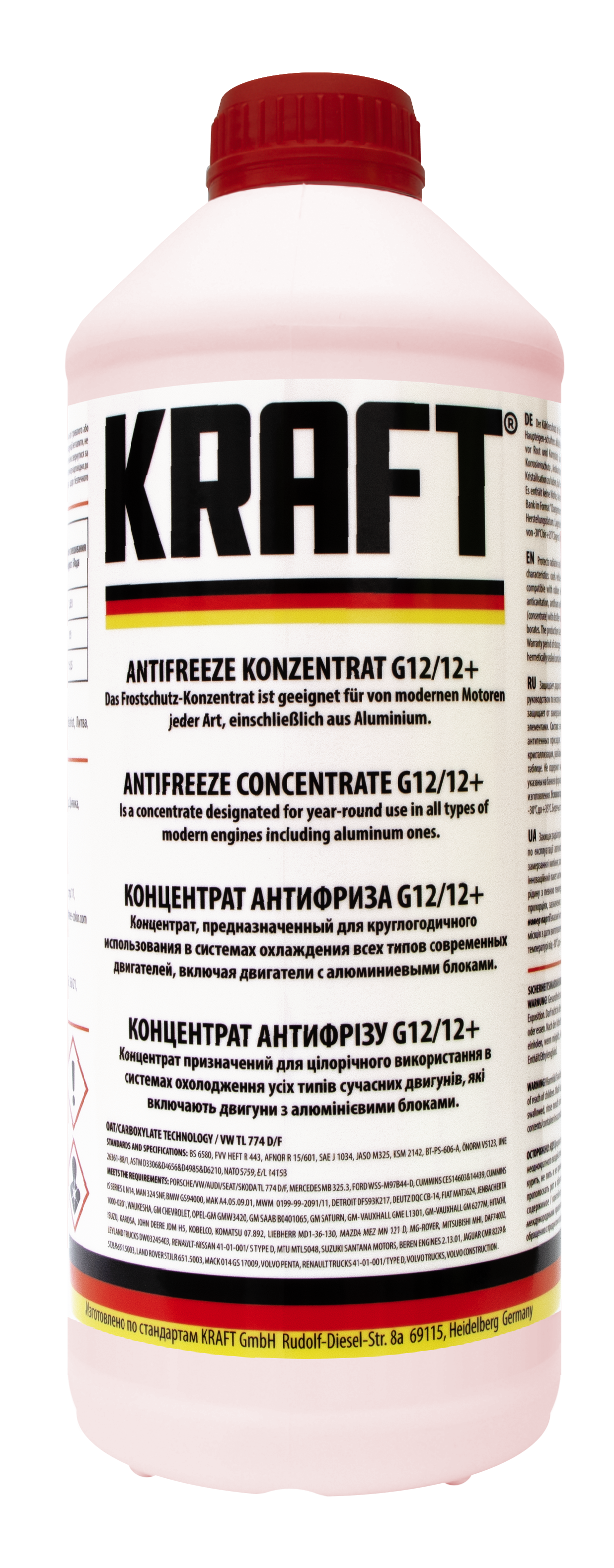 Концентрат антифриза G12/G12+ ТМ 'KRAFT' 1,5л KF103