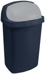 Контейнер для мусора ROLL TOP 10L голубой/серебристый 03974-266-00