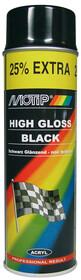 Краска универ.черная глянцевая  Motip 500мл 04005