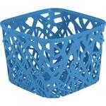 Корзинка квадратная Neo colors голубая 04160-035-03п
