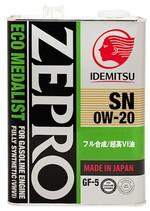 IDEMITSU ZEPRO ECOMEDALIST SN/GF-5 0W-20 4л 3583041