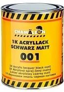 1K Акриловая эмаль черная матовая 1л 50010