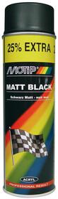 Краска универ.черная матовая  Motip 500мл 04006